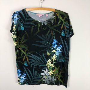 Ted Baker London Floral Butterfly Tee Shirt Top673